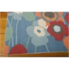"Wav01 Sun & Shade Rectangle Rug By, Blue Bell, 5'3"" X 7'5"""