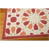 "Wav01 Sun & Shade Rectangle Rug By, Flamingo, 5'3"" X 7'5"""