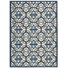 "Nourison Wav01 Sun & Shade Rectangle Rug  By Nourison, Celestial, 5'3"" X 7'5"""