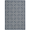 "Nourison Wav01 Sun & Shade Rectangle Rug  By Nourison, Navy, 7'9"" X 10'10"""
