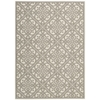 "Nourison Wav01 Sun & Shade Rectangle Rug  By Nourison, Stone, 5'3"" X 7'5"""