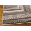 "Nourison Soho Rectangle Rug  By Nourison, Mocha Blue, 5'3"" X 7'4"""