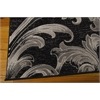 "Soho Rectangle Rug By, Black Grey, 5'3"" X 7'4"""