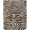 Splendor Aqua Brown Shag Area Rug