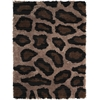 Splendor Bge/Black Shag Area Rug