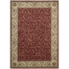 "Nourison Somerset Rectangle Rug  By Nourison, Red, 5'3"" X 7'5"""