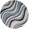 "Somerset Round Rug By, Ivory Blue, 5'6"" X 5'6"""