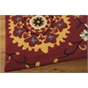 "Nourison Suzani Rectangle Rug  By Nourison, Red, 5'3"" X 7'5"""