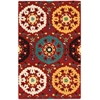 Suzani Red Area Rug