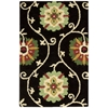 "Suzani Rectangle Rug By, Black, 2'6"" X 4'"