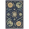 "Suzani Rectangle Rug By, Blue, 2'6"" X 4'"