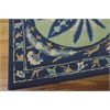 "Nourison Suzani Rectangle Rug  By Nourison, Blue, 5'3"" X 7'5"""