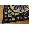 "Nourison Suzani Rectangle Rug  By Nourison, Black, 5'3"" X 7'5"""
