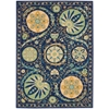 Suzani Blue Area Rug