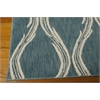 "Tranquility Rectangle Rug By, Aqua, 5'3"" X 7'5"""