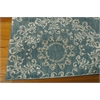 "Nourison Tranquility Rectangle Rug  By Nourison, Aqua, 5'3"" X 7'5"""