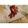 "Tropics Rectangle Rug By, Ivory, 5'3"" X 8'3"""