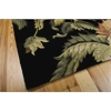 "Tropics Rectangle Rug By, Black, 5'3"" X 8'3"""