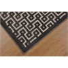 "Ultima Rectangle Rug By, Ivory Charcoal, 5'3"" X 7'3"""