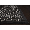 "Ultima Rectangle Rug By, Ivory Black, 5'3"" X 7'3"""