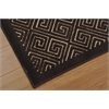 "Nourison Ultima Rectangle Rug  By Nourison, Beige Espresso, 5'3"" X 7'3"""