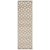 "Nourison Ultima Runner Rug  By Nourison, Ivory Silver, 2'2"" X 7'"
