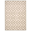 "Ultima Rectangle Rug By, Ivory Silver, 5'3"" X 7'3"""