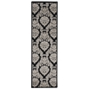 "Nourison Ultima Runner Rug  By Nourison, Black Grey, 2'2"" X 7'"