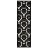 "Ultima Runner Rug By, Ivory Black, 2'2"" X 7'"