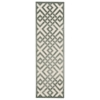"Ultima Runner Rug By, Ivory Aqua, 2'2"" X 7'"