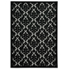 "Nourison Ultima Rectangle Rug  By Nourison, Grey Black, 5'3"" X 7'3"""