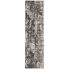 "Utopia Runner Rug By, Ivory Slate, 2'3"" X 8'"