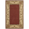 "Vallencierre Rectangle Rug By, Brick, 3'6"" X 5'6"""