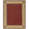 "Nourison Vallencierre Rectangle Rug  By Nourison, Brick, 7'6"" X 9'6"""
