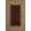 "Vallencierre Rectangle Rug By, Burgundy, 5'3"" X 8'3"""