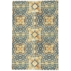 Vista Rectangle Rug By, Blue Gold, 4' X 6'