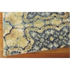 Vista Rectangle Rug By, Blue Gold, 5' X 7'