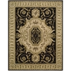 "Nourison Versailles Palace Rectangle Rug  By Nourison, Black, 7'6"" X 9'6"""