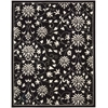 "Nourison Versailles Palace Rectangle Rug  By Nourison, Black White, 7'6"" X 9'6"""