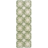 "Wav05 Artisanal Delight Runner Rug By, Leaf, 2'6"" X 8'"