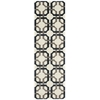 "Nourison Wav05 Artisanal Delight Runner Rug  By Nourison, Licorice, 2'6"" X 8'"