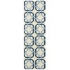 "Wav05 Artisanal Delight Runner Rug By, Sky, 2'6"" X 8'"