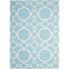 "Sun & Shade ""Connected"" Aquamarine Indoor/Outdoor Area Rug"