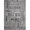 "Sun & Shade ""Pattern Destinations"" Graphite Indoor/Outdoor Area Rug"