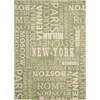 "Sun & Shade ""Pattern Destinations"" Wasabi Indoor/Outdoor Area Rug"