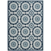 "Sun & Shade ""Solar Flair"" Navy Indoor/Outdoor Area Rug"
