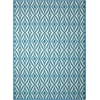 "Sun & Shade ""Centro"" Azure Indoor/Outdoor Area Rug"