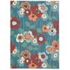 "Sun & Shade ""Pic-A-Poppy"" Bluebell Indoor/Outdoor Area Rug"
