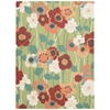 "Sun & Shade ""Pic-A-Poppy"" Seaglass Indoor/Outdoor Area Rug"