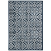 "Sun & Shade ""Lace It Up"" Navy Indoor/Outdoor Area Rug"